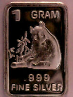 SALE>>> |SILVER BAR 1 GRAM .999 FINE COLLECTIBLE ANIMAL SERIES - THE PANDA