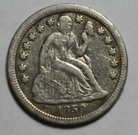 1859 SEATED DIME WR221