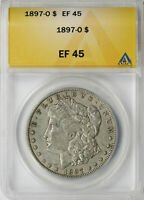 1897-O $1 MORGAN DOLLAR ANACS EF45