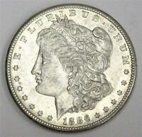 1886 S MORGAN SILVER DOLLAR EF45