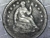 1853-O NEW ORLEANS MINT SILVER SEATED HALF DIME NO ARROWS