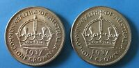 QUALITY PAIR OF SILVER 1937 AUSTRALIAN CROWNS