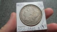 1890 P  MORGAN SILVER DOLLAR IN EXTRA FINE TO AU  CONDITION,  DATE,FREE SHIP