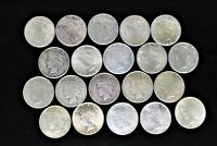 ROLL  20 COINS  MIXED DATE PEACE SILVER DOLLARS