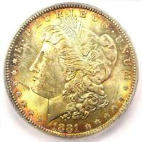 1881-P 1881 MORGAN SILVER DOLLAR $1 - ICG MINT STATE 66 PQ PLUS GRADE - $2,800 VALUE