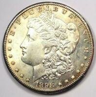 1898-S MORGAN SILVER DOLLAR $1 - CHOICE BU UNC -  LUSTER & FEATHERS