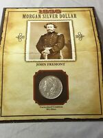 1890 - JOHN FREMONT - MORGAN SILVER DOLLAR - 1994 STAMP - LEGENDS OF THE WEST