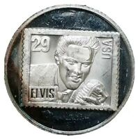 ONE TROY OZ .999 FINE SILVER ART ROUND ELVIS PRESLEY 1935 19