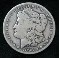 1898-S MORGAN SILVER DOLLAR  90 SILVER  CLEAR DATE/MINT MARK  BOOK QUALITY