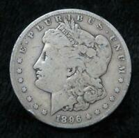 1896-S MORGAN SILVER DOLLAR  90 SILVER  CLEAR DATE/MINT MARK  BOOK QUALITY