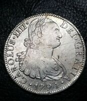 1794 FM SPANISH 8 REALES CALICO 687 MEXICO COLONIAL MILLED SILVER DOLLAR COIN $