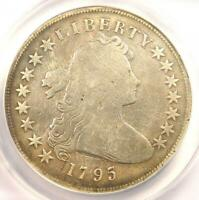 1795 DRAPED BUST SILVER DOLLAR $1 COIN, SMALL EAGLE - ANACS VG8 DETAILS