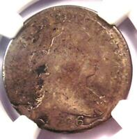 1796 DRAPED BUST DIME 10C COIN - CERTIFIED NGC VG DETAILS - FIRST DIME MINTED