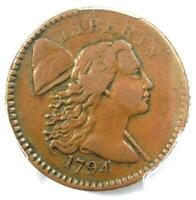 1794 LIBERTY CAP LARGE CENT 1C COIN - CERTIFIED PCGS VF35 - $3,300 VALUE
