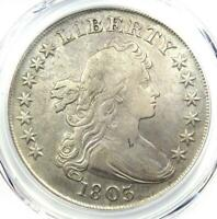 1803 DRAPED BUST SILVER DOLLAR $1 - CERTIFIED PCGS VF DETAILS -  COIN