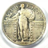 1921 STANDING LIBERTY QUARTER 25C COIN - CERTIFIED PCGS EXTRA FINE 40 EF40 -  DATE