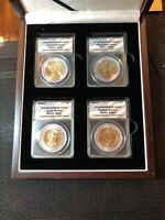 2008-P $1 PRESIDENTIAL OATH DOLLAR SET OF 4 ANACS MINT STATE 67-MINT STATE 66 LIMITED EDITION