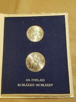 1983   1984 VATICAN CITY 2 COIN SET 500 & 1 000 LIRE HOLY YEAR JOHN PAUL II