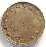 1912-S LIBERTY NICKEL 5C - ANACS VF20 DETAILS -  KEY DATE CERTIFIED COIN