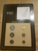 COIN SETS OF ALL NATIONS VANUATU 1983 MINT SET 6 COINS 1 VATU TO 50 VATU UNC MS