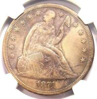 1871 SEATED LIBERTY SILVER DOLLAR $1   NGC XF DETAILS    CERTIFIED COIN