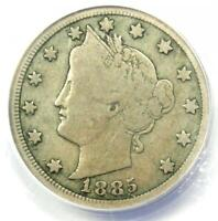 1885 LIBERTY NICKEL 5C - CERTIFIED ANACS VG8 -  KEY DATE COIN