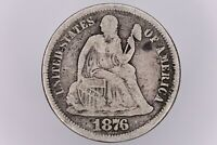 1876 S SILVER SEATED LIBERTY DIME