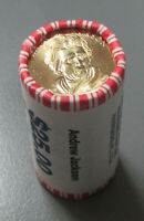 2007 ANDREW JACKSON PRESIDENTIAL $1 ROLL OF 25 COINS $25 FACE VALUE ORIGINAL WRA