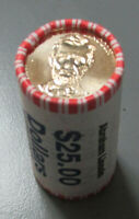 2010 ABRAHAM LINCOLN PRESIDENTIAL $1 ROLL OF 25 COINS $25 ORIGINAL WRAPPED