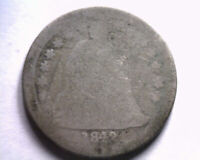 1842-O MEDIUM O SEATED LIBERTY DIME ABOUT GOOD AG ORIGINAL COIN BOBS COINS
