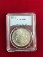 1879-O MORGAN SILVER DOLLAR - PCGS MINT STATE 63 - UNCIRCULATED