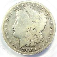 1893-S MORGAN SILVER DOLLAR $1 - CERTIFIED ANACS VG8 DETAILS -  KEY COIN