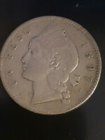 1897A PESO 25 GRAMOS DOMINICAN REPUBLIC COIN  PRICED TO SELL
