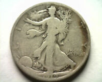 1919 WALKING LIBERTY HALF GOOD /  GOOD G /VG  ORIGINAL COIN BOBS COINS