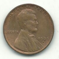 VINTAGE  FINE VF CONDITION 1935 S/S LINCOLN CENT-OLD US COIN-SEP115