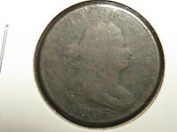 1805 DRAPED BUST HALF CENT CORRODED BENT