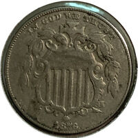 1876 SHIELD NICKEL 5 CENT US COIN SI80