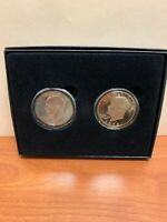 1971-S PROOF 40 SILVER AND 1978-S EISENHOWER IKE DOLLAR COIN SET IN BLACK BOX