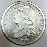 1838 CAPPED BUST QUARTER BEAUTIFUL COIN  DATE