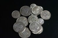 LOT OF 16 SWITZERLAND SILVER FRANCS FOREIGN COIN COLLECTION