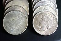 ROLL OF MIXED DATE PEACE SILVER CIRCULATED ONE DOLLAR S$1 CO