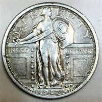 1917 TYPE 1 STANDING LIBERTY QUARTER BEAUTIFUL HIGH GRADE CO