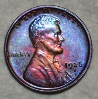 BRILLIANT UNCIRCULATED 1926 S LINCOLN CENT VIBRANTLY TONED S