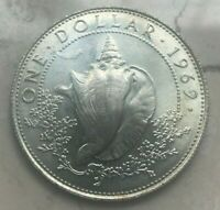 1969 BAHAMAS 1 ONE DOLLAR   UNCIRCULATED SILVER   ONLY 26 000 MINTED