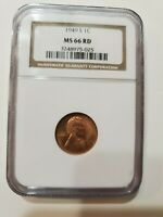 1949 S LINCOLN CENT MINT STATE 66 RD NGC
