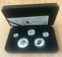 2004 CANADA MAPLE LEAF 5 COIN PRIVY MARK REVERSE PROOF SET   BOX AND COA