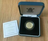 2002 GREAT BRITAIN 1 ONE POUND SILVER PROOF   NEW IN BOX WITH COA