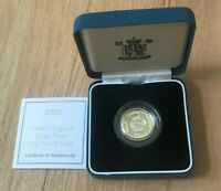 2001 GREAT BRITAIN 1 ONE POUND SILVER PROOF   NEW IN BOX WITH COA