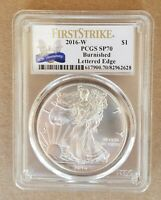 2016 W  PCGS SP 70 FIRST STRIKE BURNISHED AMERICAN SILVER EAGLE 30TH ANNIV LABEL