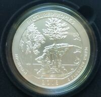 2018 P 5 OZ PICTURED ROCKS  AMERICA THE BEAUTIFUL FIVE OUNCE SILVER COIN